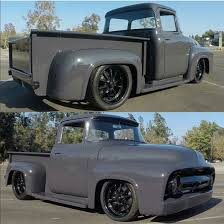 1956 ford f 100 truck gray black rims classic ford f100