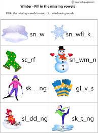 winter worksheets worksheets