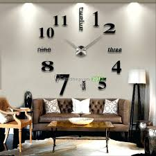 home decor canada online wall mirrors 40 inch modern 3d mirror wall clock diy room home