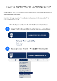how to print proof of enrolment letters
