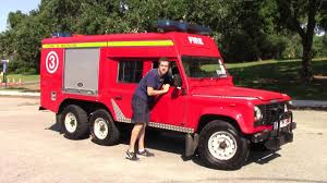 land rover 110 truck i drove a 6 wheel drive land rover fire truck youtube