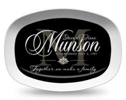 personalized serving platters gifts personalized serving tray ivory family name platter