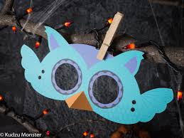 printable halloween owl mask for kids diy halloween activity