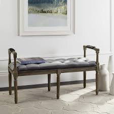 Bedroom Upholstered Benches Grey Tartan Upholstered Bench Best Chairs Gallery