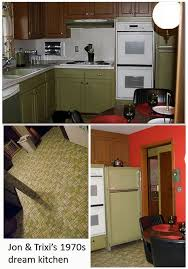 avocado green kitchen cabinets jon trixi create a 1970s avocado kitchen with rust oleum cabinet
