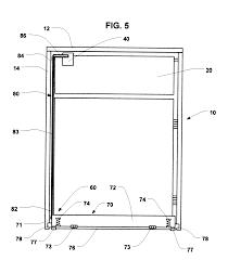 Restaurant Swinging Door Hinges Patent Us6267260 Trash Container Door Opening Apparatus Google