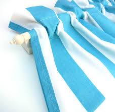 blue stripe valance curtains blue white stripes 44 inches wide