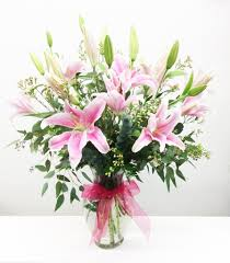 pink lilies all arrangement lilies come in pink white or mixed in