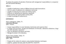 Lab Technician Resume Sample by Laboratory Supervisor Resume Examples Reentrycorps