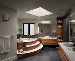 bathroom dazzling open plan bathroom feats stacked round bathtub