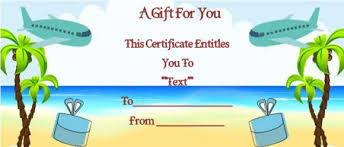travel gift certificates vacation gift certificate template 34 word psd files for