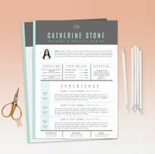 Resume Templates With Cover Letter Resume Template 2 Page Cv Template Cover Letter Instant