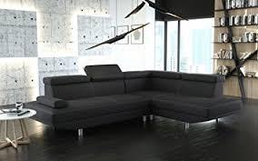 canapé d angle avec appui tête canapé d angle stario en cuir pu noir avec repose tête réglable