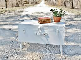 old trunk turned shabby chic coffee table hometalk