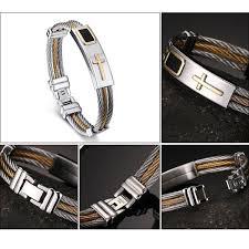 cross bracelet bangles images Premium gold stainless steel cross bracelet hyperion jpg