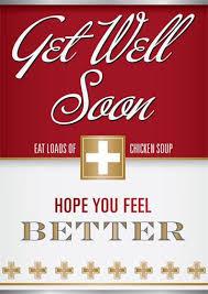get well soon soup eat loads of chicken soup get well soon card 2 50 a great range