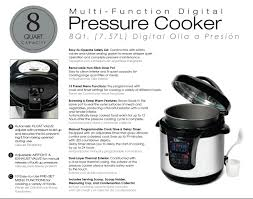 elite platinum epc 808 maxi matic 8 quart electric pressure cooker