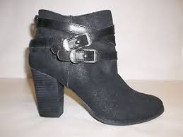 s heel boots size 11 reba size 11 m zania black leather ankle heel boots womens