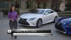 lexus official website canada fast facts the 2015 lexus rc u0026 rc f sport walkaround video youtube