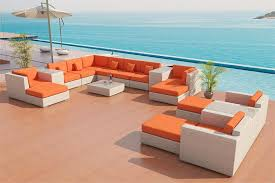 Orange Patio Cushions by Sofa Outdoor Patio Furniture Set 25