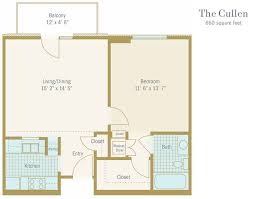 senior apartment floor plan houston tx the cullen