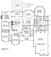 large single story house plans floor plan of the house plan number 1411 single