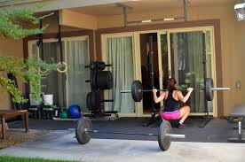 Small Home Gym Ideas Ideas Outdoor Home Gym Ideas With Sliding Patio Doors And