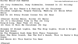 country music silver bells jim reeves lyrics and chords