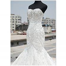 bling wedding dresses aliexpress buy luxury bling bling wedding dresses mermaid