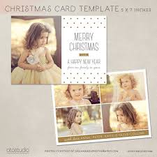 digital photoshop christmas card template for photographers