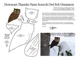 eastern screech owl felt ornament pattern pic bird stuffed animal