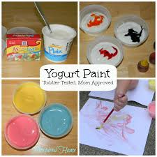 pinspired home yogurt paint toddler tested mom approved