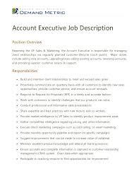 account executive description for resume 28 images key account