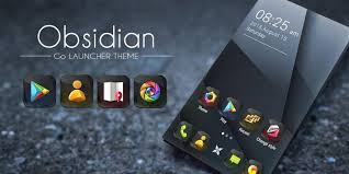 go themes apps apk obsidian go launcher theme apk download free personalization app