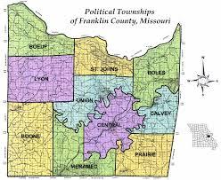 Missouri On Map Franklin County Missouri Genealogy Home