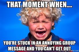 Group Message Meme - that moment when you re stuck in an annoying group message and