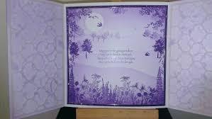handmade in scotland trellis wedding card
