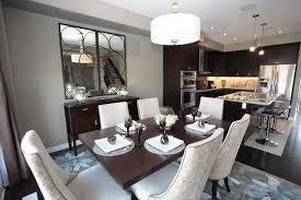 model home interior model home kitchen and dining room modern dining room