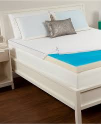 Comfort Rx Orthopedic Foam Mattress Bedroom White Tufted Bed With Gel Foam Mattress Topper And White