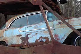 rusty car driving haven u0027t seen everything vintage bow tie hauler