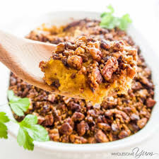 healthy low carb sweet potato casserole recipe sugar free