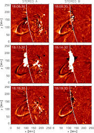 seismology of a large solar coronal loop from euvi stereo