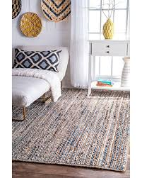 7 jute rug great deals on nuloom blue braided striped dara jute rug 7