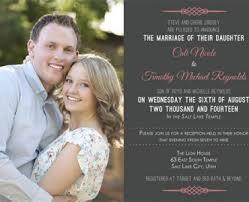wedding invitations utah wedding invitation card with photo awesome wedding invitations