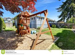 Kids Backyard Playground Playground For Kids Backyard View Stock Photo Image 39823500