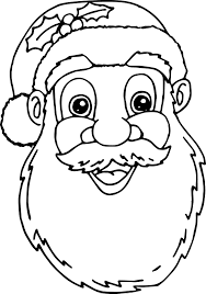 santa claus face coloring pages wecoloringpage
