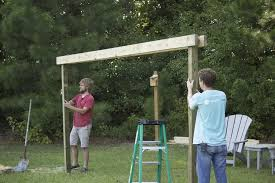how to build a diy pergola hammock stand in a weekend for under 200