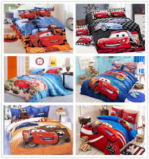 kids cars lightning mcqueen bedding bed linen set with cartoon