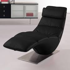 Black Chaise Lounge Zola Black Leather Contemporary Lounge Chaise Zuri Furniture