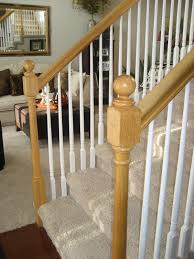 Oak Banister Rail Chic On A Shoestring Decorating How To Stain Stair Railings And